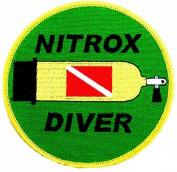 Nitrox Diver Patch Embroidered Iron On Scuba Diving Tank Flag Emblem Souvenir
