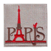 Paris France (B) Embroidered Sew on Patch