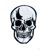 Biker Skull Iron On Patch Goth Deathrock Applique