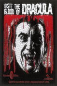 Hammer Horror Blood Of Dracula Vampire Woven Patch