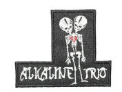 ALKALINE TRIO Two Headed Skeleton Punk Rock Iron On Embroidered PatchApprox