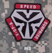 Mil-Spec Monkey Trigger Pull Logo Patch-Red