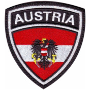 Austria (b) Crest Flag Embroidered Sew On Patch