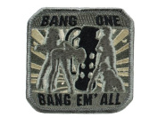"Mil-Spec Monkey ""Bang One, Bang Em All"" Matrix hook and loop Morale Patch"