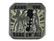 "Mil-Spec Monkey ""Bang One, Bang Em All"" Matrix hook and loop Morale Patch"
