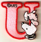 Snoopy ABCs Alphabet Letter U Iron On / Sew On Patch