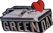 Green Day Mousetrap Logo Embroidered iron on Patch