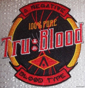 True Blood TV Series TRU BLOOD 100% PURE Blood Type Logo PATCH
