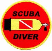 Scuba Diver Patch Embroidered Iron On Diving Tank Flag Emblem Souvenir