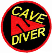 Cave Diver Patch Embroidered Iron On Scuba Diving Cavern Emblem Souvenir