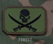 Mil-Spec Monkey Pirate Skull PVC Patch-Forest