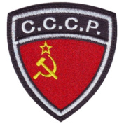 C.C.C.P. USSR Soviet Union Crest Flag Embroidered Sew On Patch