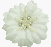 Cuteque International CQRF8 6-Piece Soft Silk Flower, White