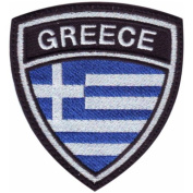 Greece Crest Badge Flag Embroidered Sew On Patch