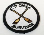 The Official USA Made Shit Creek Survivor hook and loop Morale Patch