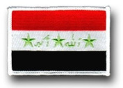"FLAG OF IRAQ 3½"" SHOULDER PATCH"