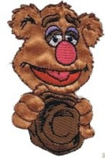 Muppets Cartoon Iron On Patch - Fozzie The Bear with Hat Applique