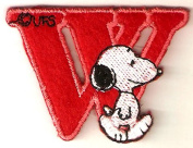 Snoopy ABCs Alphabet Letter W Iron On / Sew On Patch
