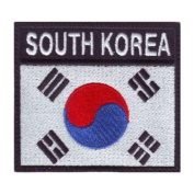 South Korea Badge Flag Embroidered Sew On Patch