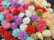 32pcs Resin Roses Flatback the the Buttons Scrapbooking DIY