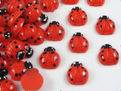 40pcs of Resin Ladybug Flatback Appliques/kids the DIY Craft Appliques Red