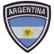 Argentina Crest Flag Embroidered Sew On Patch