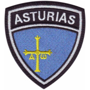Asturias Crest Flag Embroidered Sew On Patch