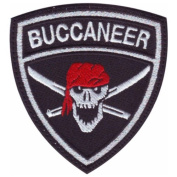 Buccaneer Crest Badge Flag Embroidered Sew On Patch