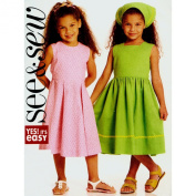 Butterick See & Sew Girl's Dress and Scarf Sewing Pattern #B5165 Size A