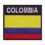 Colombia Badge Flag Embroidered Sew On Patch