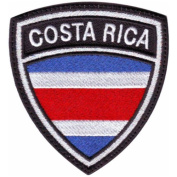 Costa Rica Crest Flag Embroidered Sew On Patch