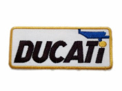 Ducati Logo Motor Motorcycles Bike Patches Embroidered Patch SIZE : 3.8cm x 9.5cm