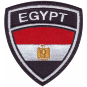 Egypt Crest Flag Embroidered Sew On Patch