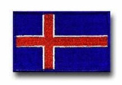 "FLAG OF ICELAND 3½"" SHOULDER PATCH"