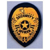 Gold SECURITY OFFICER Badge Patch