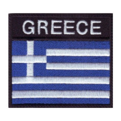 Greece Badge Flag Embroidered Sew On Patch