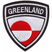 Greenland Crest Badge Flag Embroidered Sew On Patch