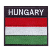 Hungary Badge Flag Embroidered Sew On Patch