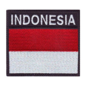 Indonesia Badge Flag Embroidered Sew On Patch