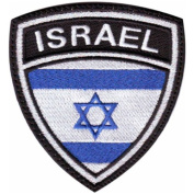 Israel Crest Flag Embroidered Sew On Patch