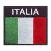 Italy Badge Flag Embroidered Sew On Patch