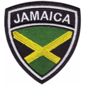 Jamaica Crest Flag Embroidered Sew On Patch