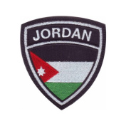 Jordan Crest Flag Embroidered Sew On Patch