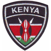 Kenya Crest Badge Flag Embroidered Sew On Patch
