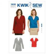 Kwik Sew K3635 Tops Sewing Pattern, Size XS-S-M-L-XL