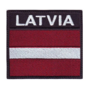 Latvia Badge Flag Embroidered Sew On Patch
