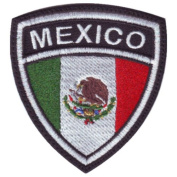 Mexico Crest Badge Flag Embroidered Sew On Patch