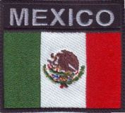 Mexico Flag (B) Embroidered Sew on Patch