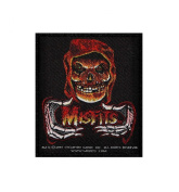 Misfits Red Ghoul Fire Fiend Rock Music Band Woven Applique Patch