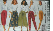 MISSES MISSES PETITE SKIRT, SPLIT SKIRT & PANTS SIZES 12-14-16 RATED VERY EASY BUTTERICK CLASSICS #5711 FAST & EASY